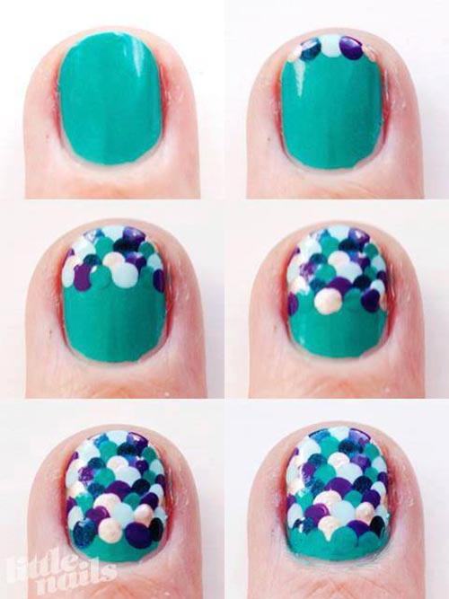 Easy Nail Designs - 19. Scales Nail Art Design