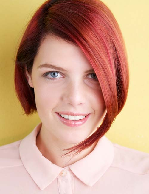 20. Ultra Red Asymmetrical Bob