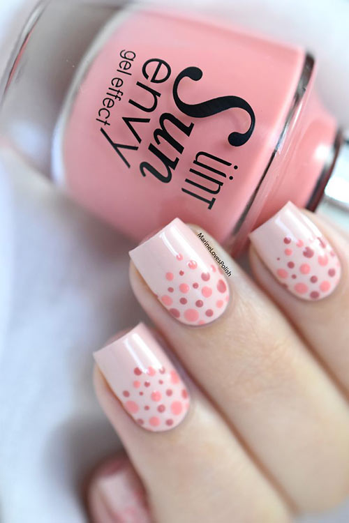 24. Dotted Nude Nails