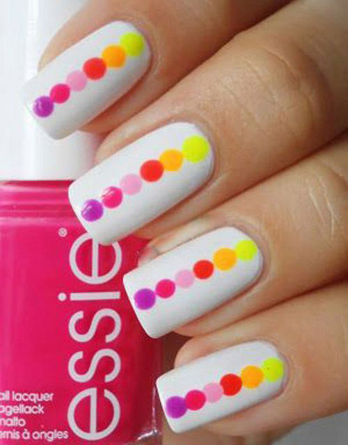 29. Colorful Dotted Nails