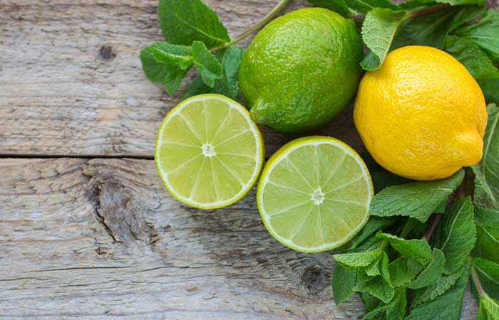 3. Lemon And Mint Face Pack For Acne