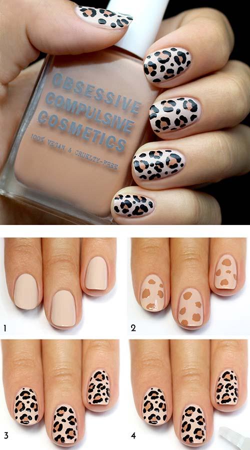 36. Leopard Print Nail Art Design