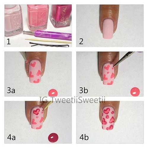 45. Valentines Nail Art Design