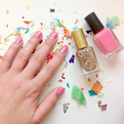 46. Confetti Nail Art