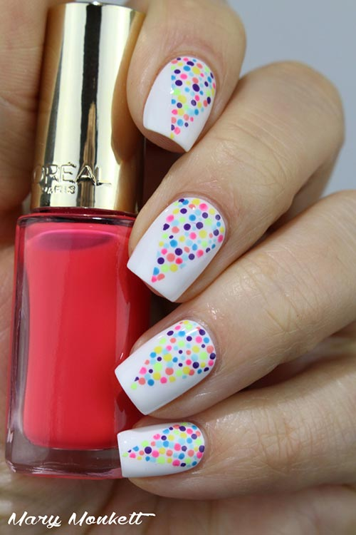Colorful Holi Nail Art - Simple Nail Designs - Top 50 Latest And Simple Nail Art Designs For Beginners 2017