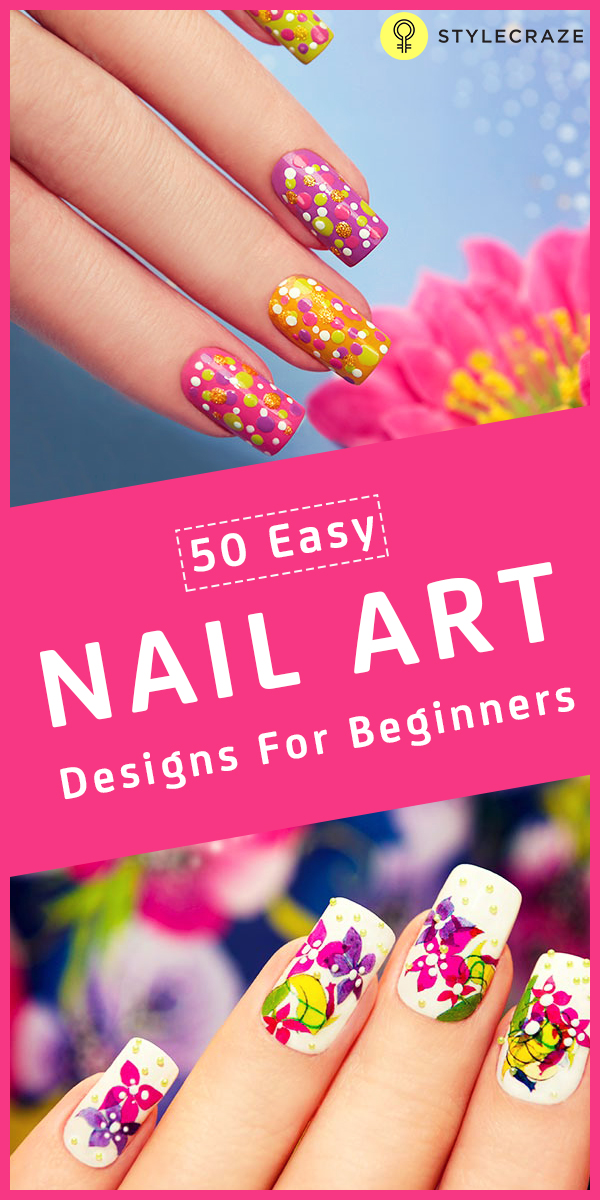 50 easy nailart designs for begginers