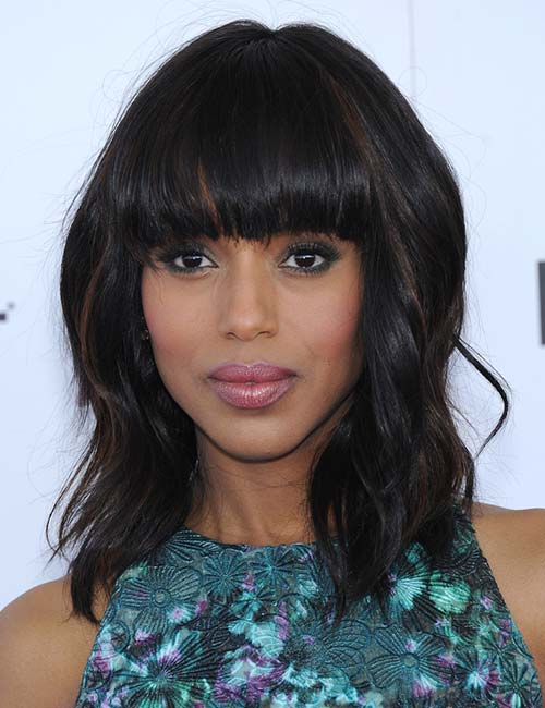 Short Hairstyles For Round Faces - Voluminous Bob With Blunt Bangs