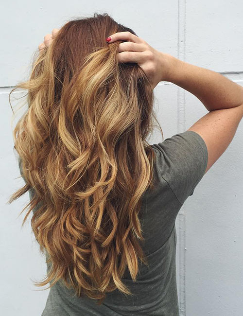 9. Golden Wavy Layers