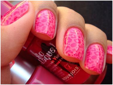 animal prints nail design