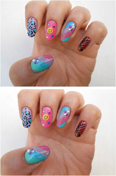 Chain and stud nails art