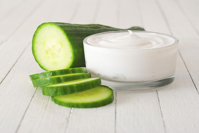 Cucumber And Milk Face Pack