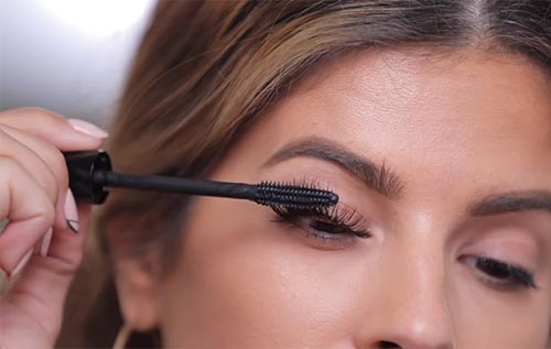 How To Apply False Eyelashes - Finish With Mascara (Optional)