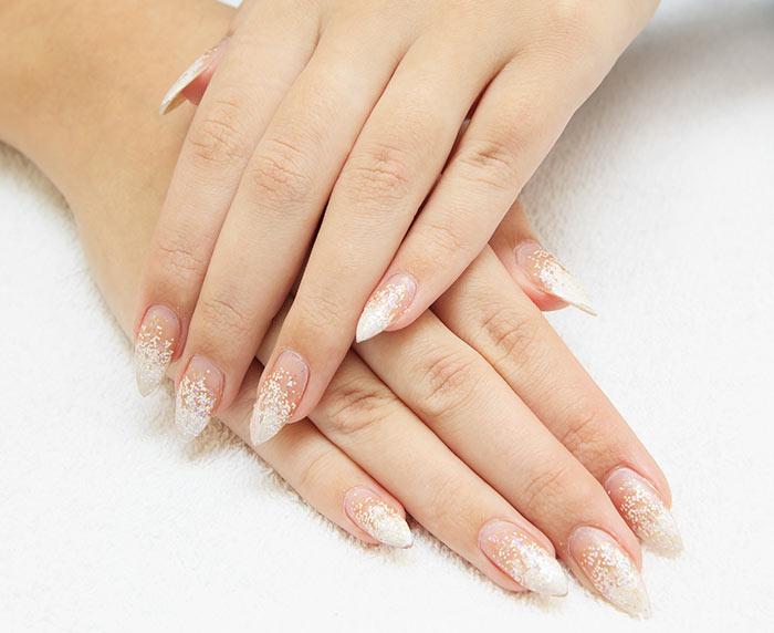 Glittery Tips Nail Art