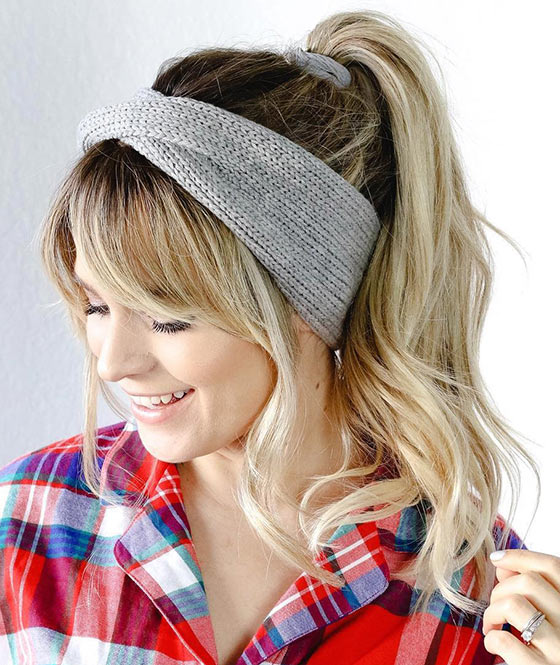 Knit-Headband-Ponytail