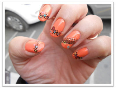 Lace nails art