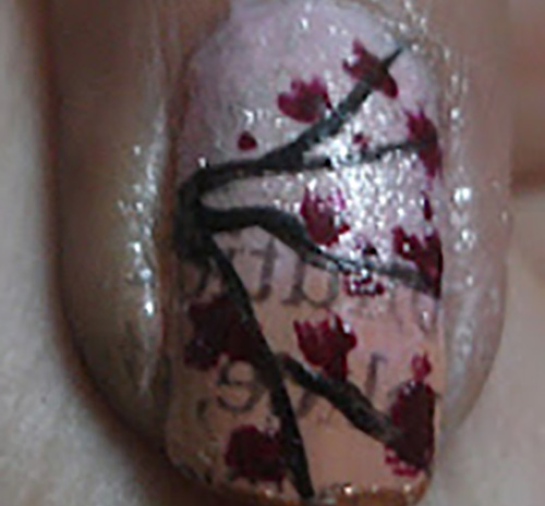 MAroon-Nail-Polish-Art1