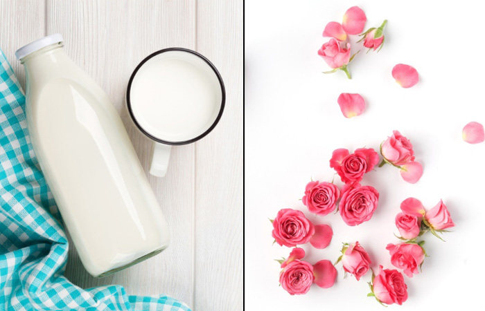 Milk And Rose Petals For Pink Lips