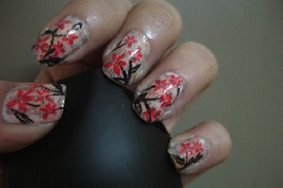 newspaper nail art design