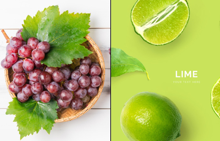 Red Grapes And Lime For Pink Lips