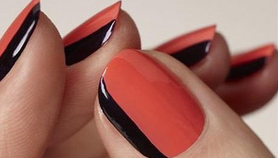 Side French nails art