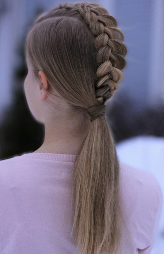 Simple-Dutch-Braid-Ponytail