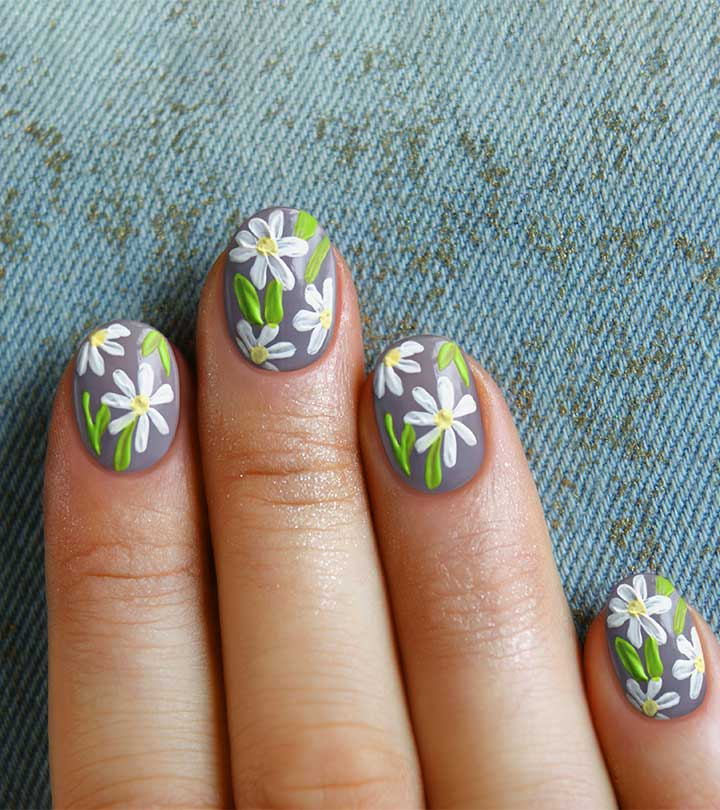 Simple Flower Nail Art Tutorial Ss