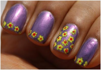 simple flower nail art designs