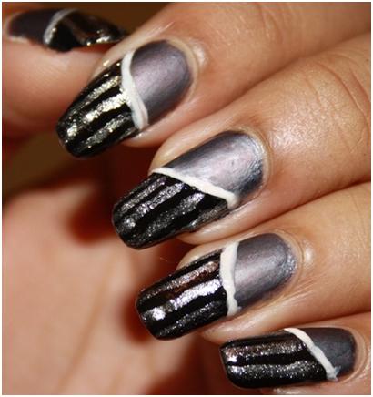 stripes nail art designs
