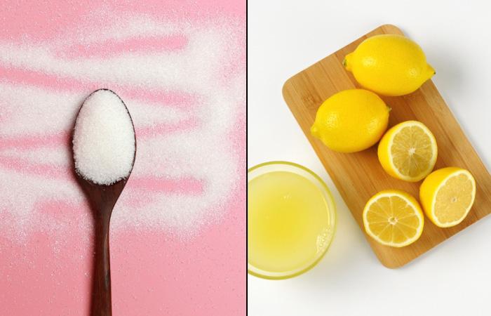 Sugar And Lemon Scrub For Pink Lips