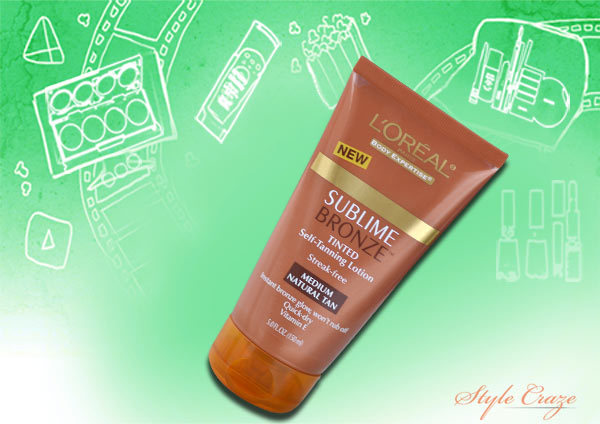 loreal tanning lotion