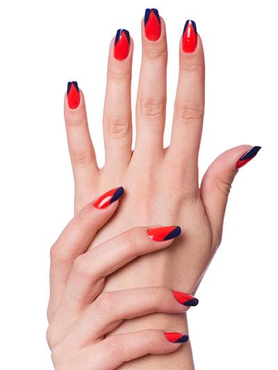 The V Nail Art Design