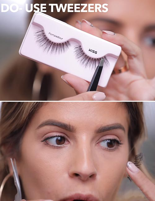How To Apply False Eyelashes - Trim And Customize Your Lashes