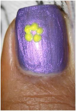 Flower Nail Art Designs - Wait till the base polish dry completely