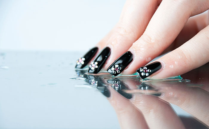 Water Drops Nail Art