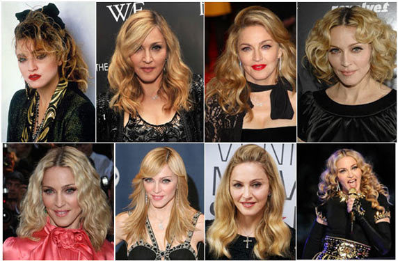 latest madonna hairstyles