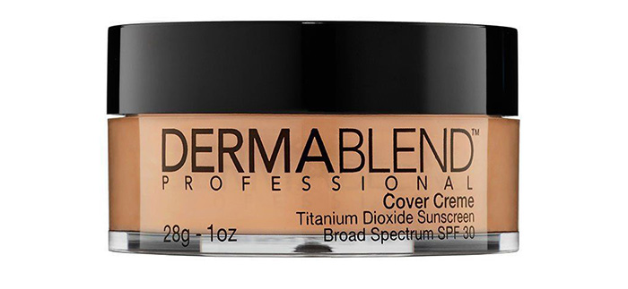 1. Dermablend Cover Creme Full Coverage Foundation