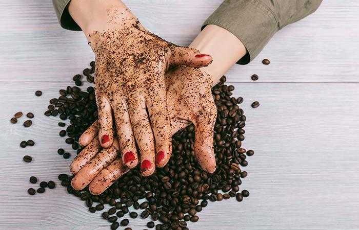 1. Coffee And Sugar Body Scrub For Glowing Skin