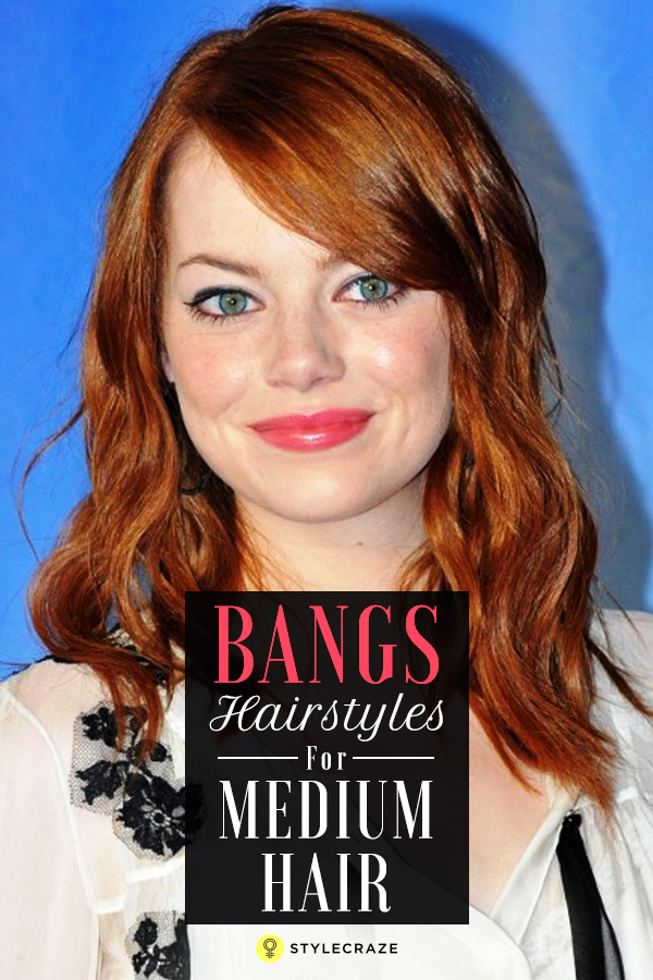20 Incredible Medium Length Hairstyles With Bangs