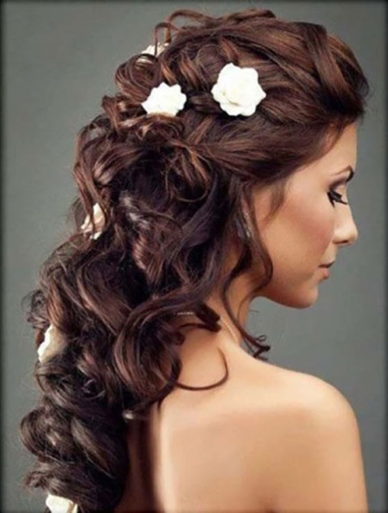 50 best indian hairstyles you must try in 2017 24 floral curls urmus Image collections