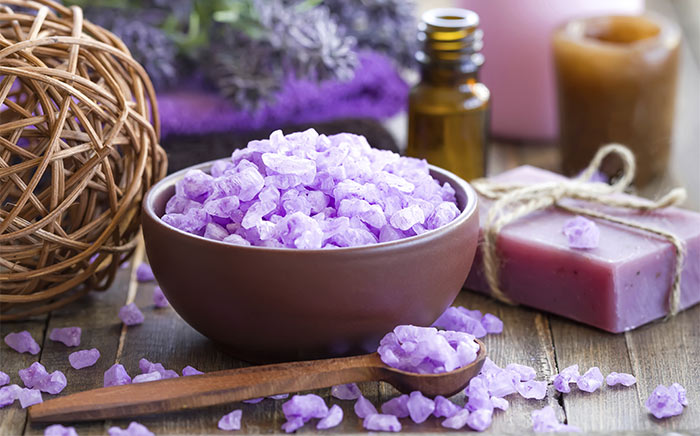 5. Lavender Sea Salt Scrub