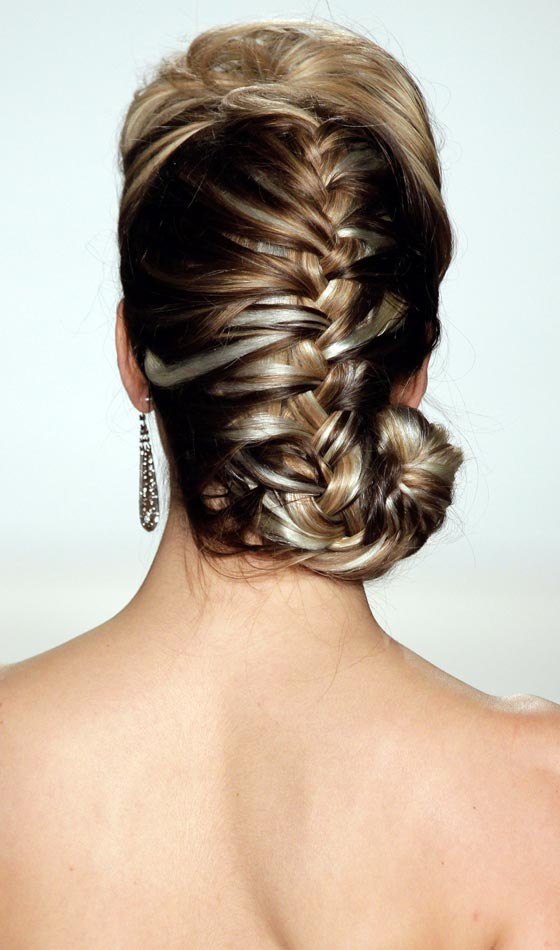 Feather Braided Bun