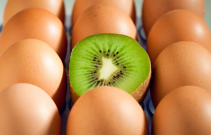 7. Kiwi And Egg Yolk Pack