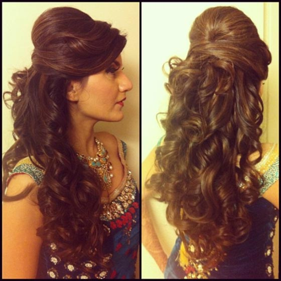 50 best indian hairstyles you must try in 2017 9 bumped up curls urmus Image collections