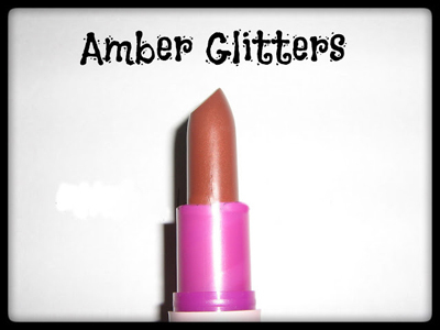 Amber glitters for makeup