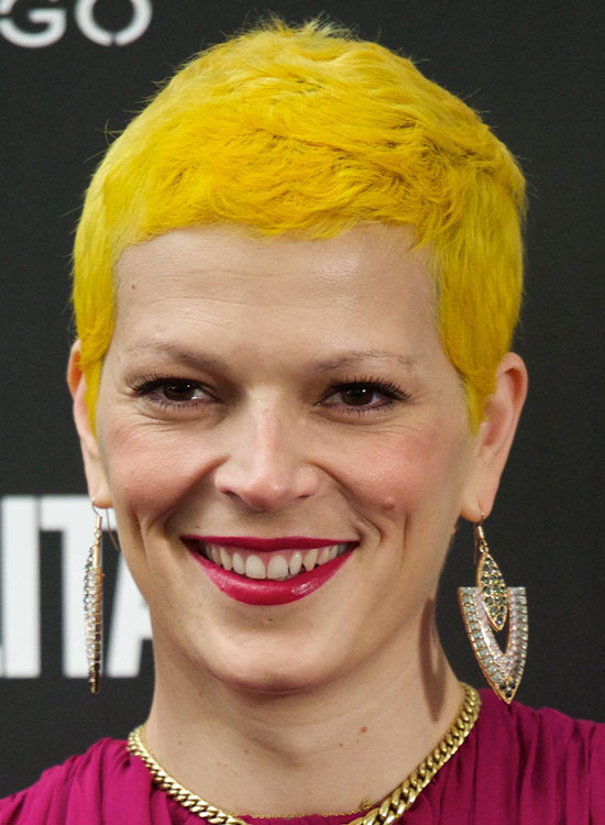 Bright-Yellow-Short-bob-with-Layers-and-Texture