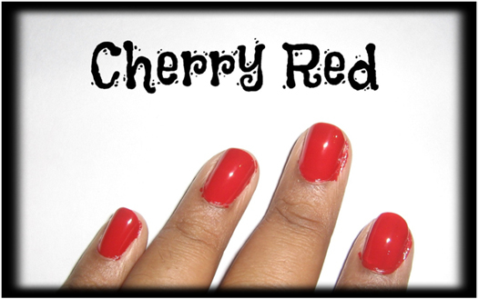 Cherry red for nail1