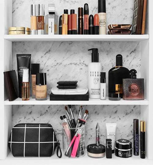 Classy Makeup Shelf For Beginners