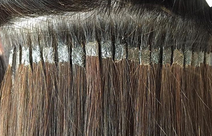 All about hair extensions with pros and cons of each type cold fusion hair extension pmusecretfo Gallery