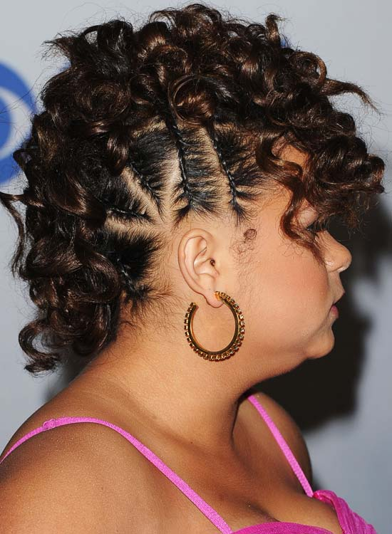 Lovely Curly Mohawk With Multiple Side Braids. Image: Getty Pinit