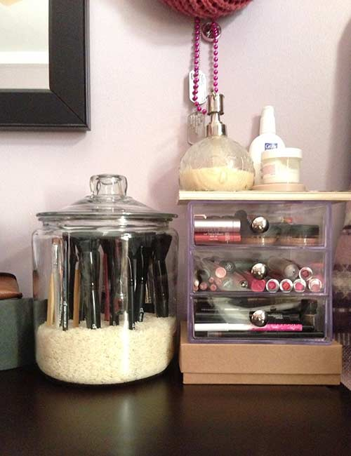 DIY Glass Jars And Crate Drawers